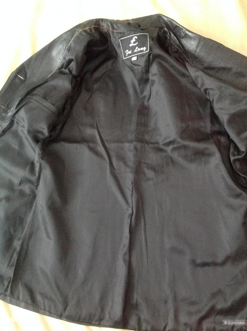 Кожаный  пиджак, XXL