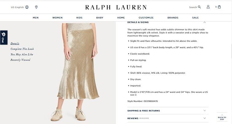 Юбка  Lauren Ralph Lauren  S