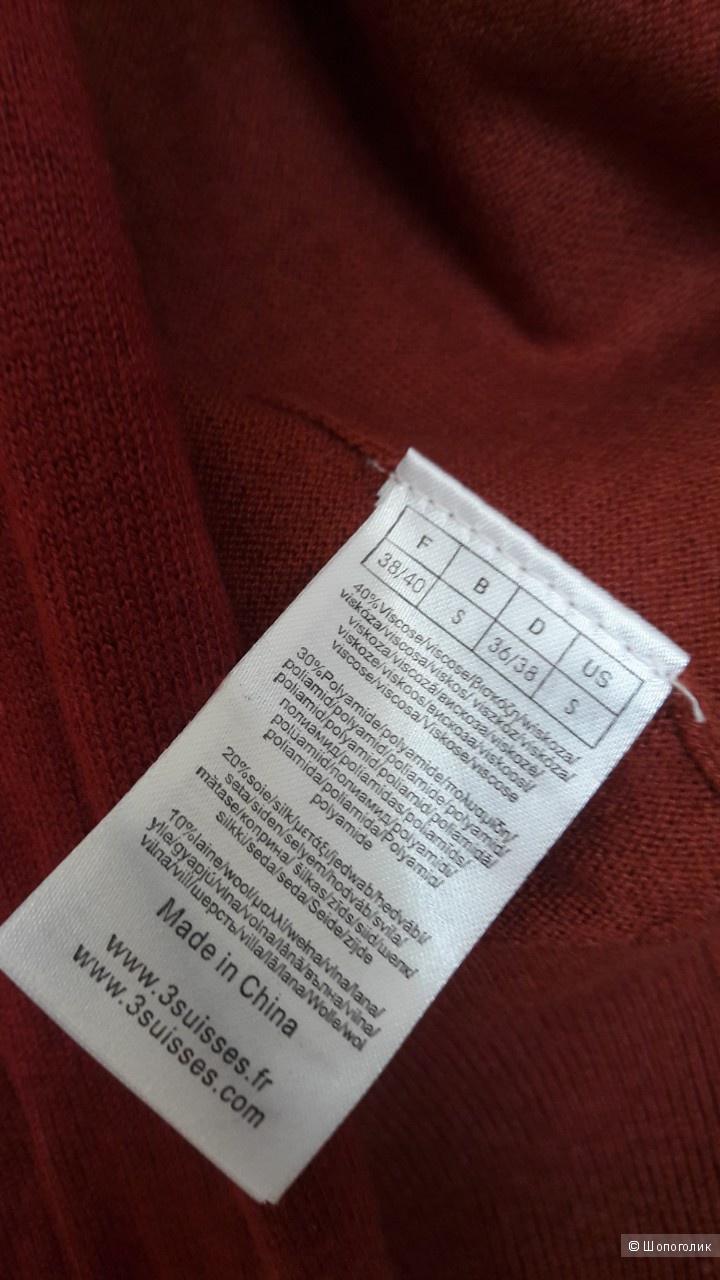 Сет: водолазка H&M, размер 42 рос., кардиган 3suisses, рамер 42 рос.