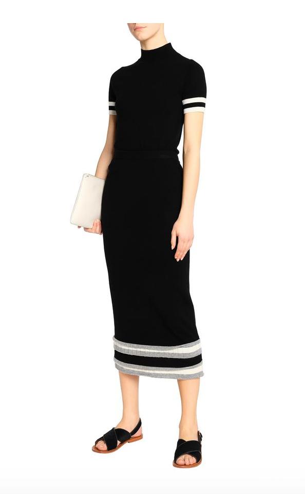 Теплая юбка шерсть-кашемир  MADELEINE THOMPSON, размер XL