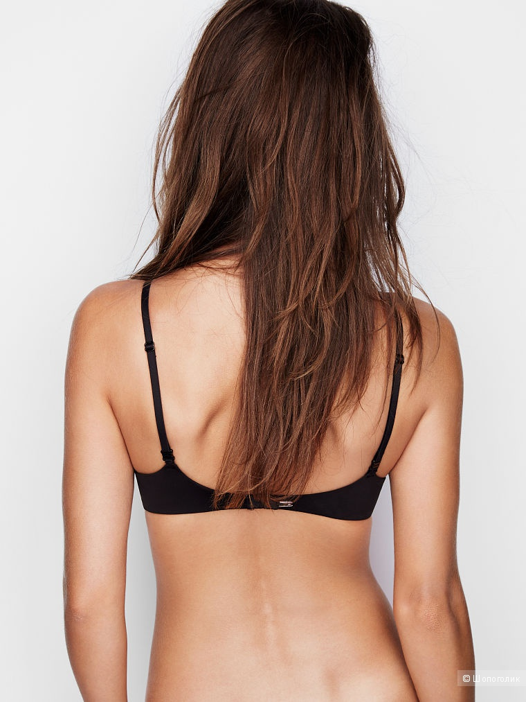 Victoria's Secret комплект Push-Up Plunge Bra+No-show cheeky panty, 34C+S