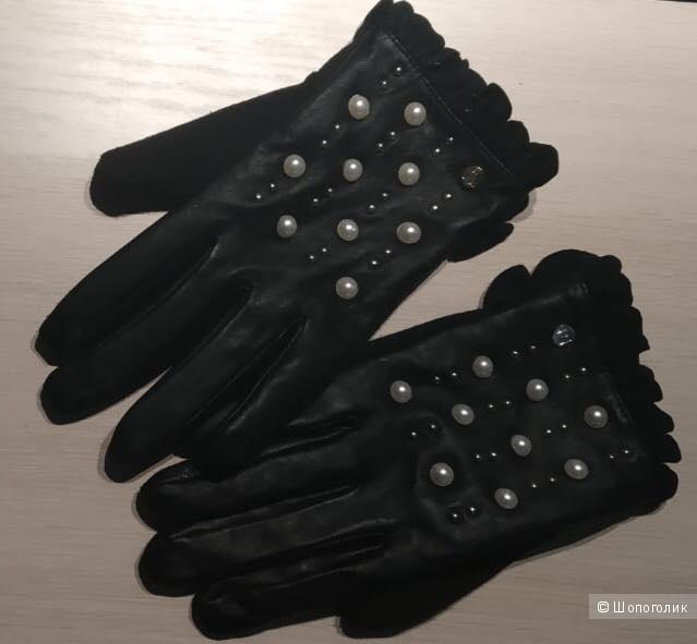 Перчатки с пальцем тачскрин River Island, размер eur 34, M/L, 8,5-9