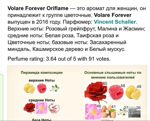 Туалетная вода Vollare Forever, 50 мл
