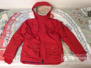 Зимняя куртка-пуховик Land's End р.6-7, 119-125 см (по факту до роста 132 см)