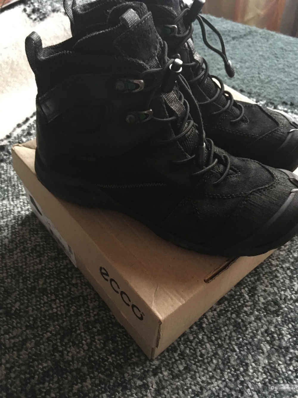 Ботинки ECCO для мальчика, размер 34.