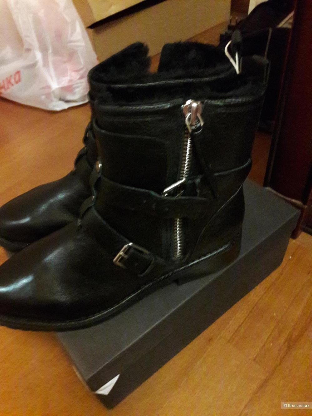 Кожаные ботинки с мутоном Rebecca Minkoff 40 размера