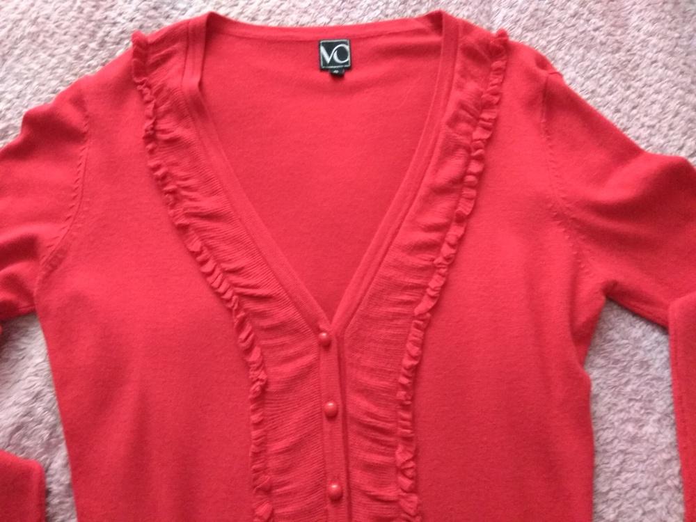 Кардиган красный VO, размер S = 40-42 (рос)