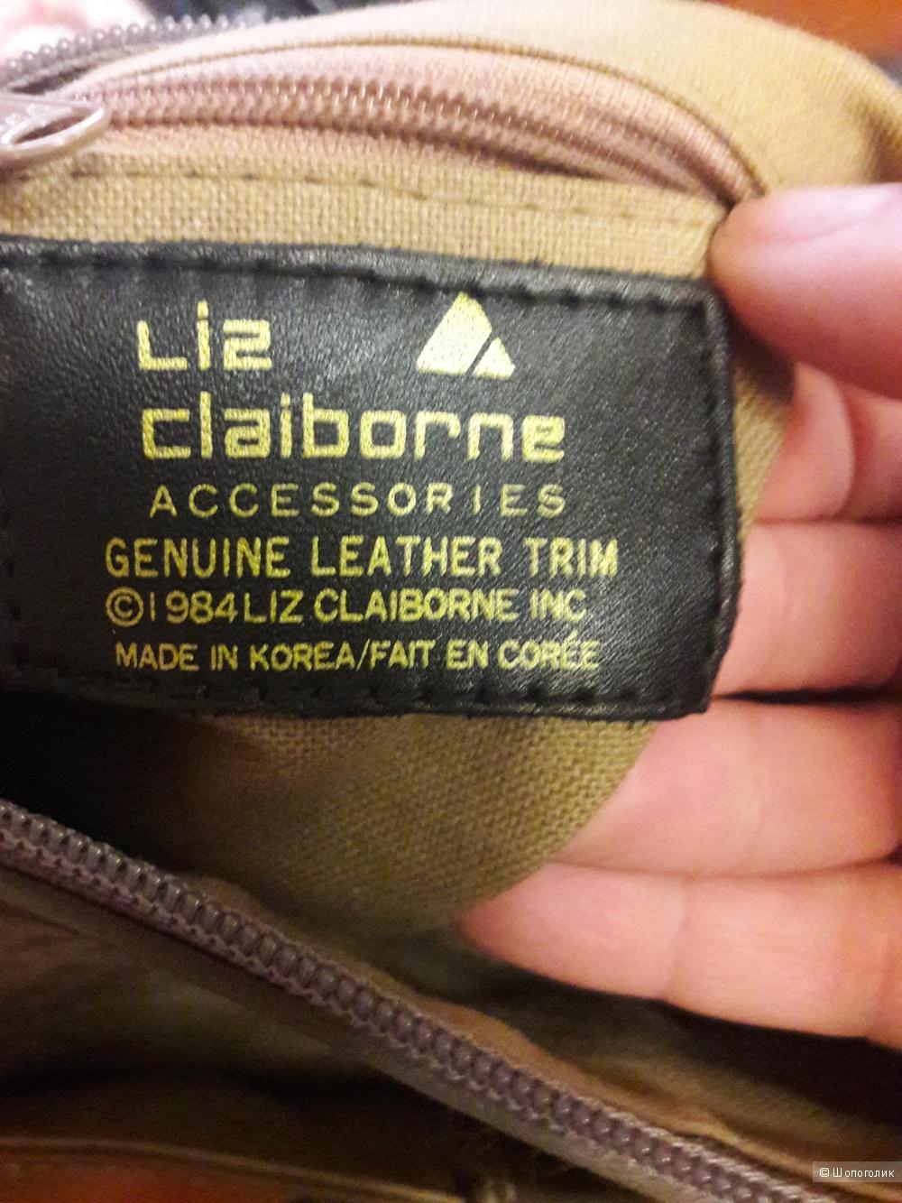 Сумка Liz Claborne с кожаными вставками