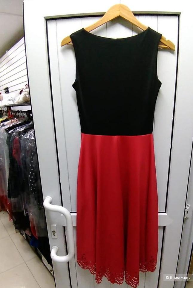 Комбинированное каскадное платье. Размеры M.L