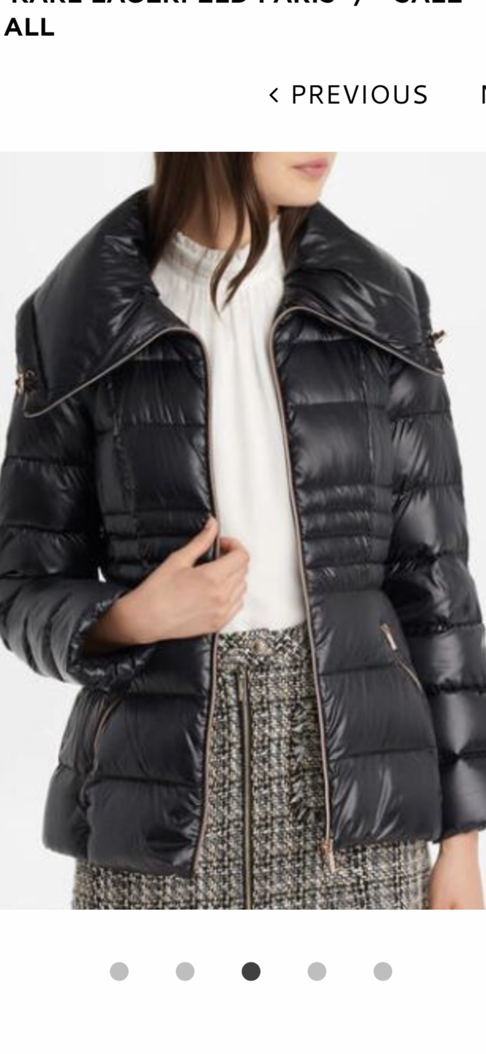 Пуховик Karl Lagerfeld размер 42-44