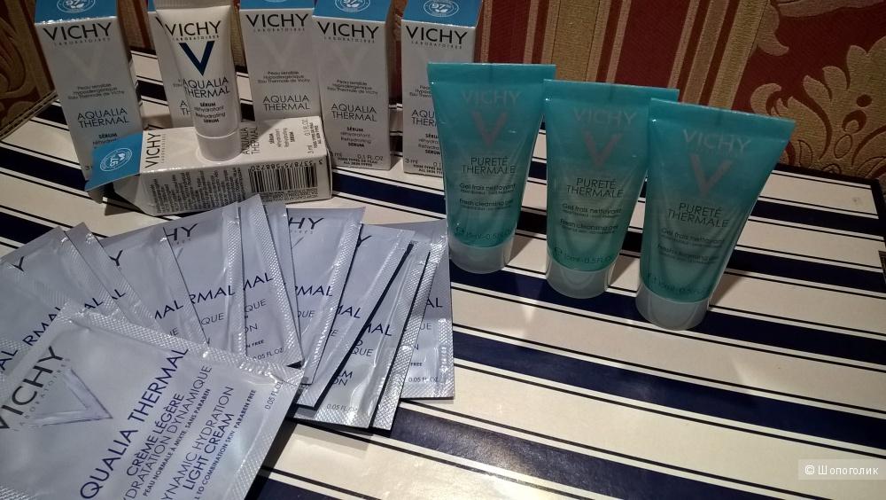Гель+сыворотка+легкий крем Vichy Aqualia Thermal 15мл*3 шт, 3мл*6шт, 1,5мл*15шт