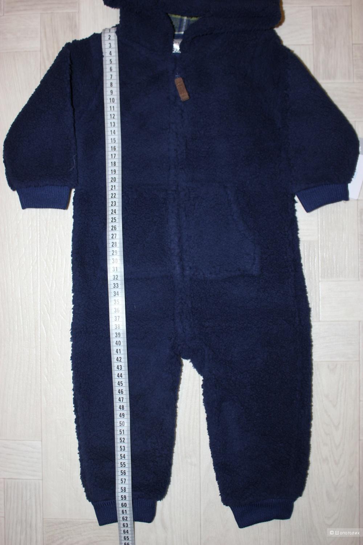 Комбинезон Carters из шерпы, размер 12м (72-76 см)