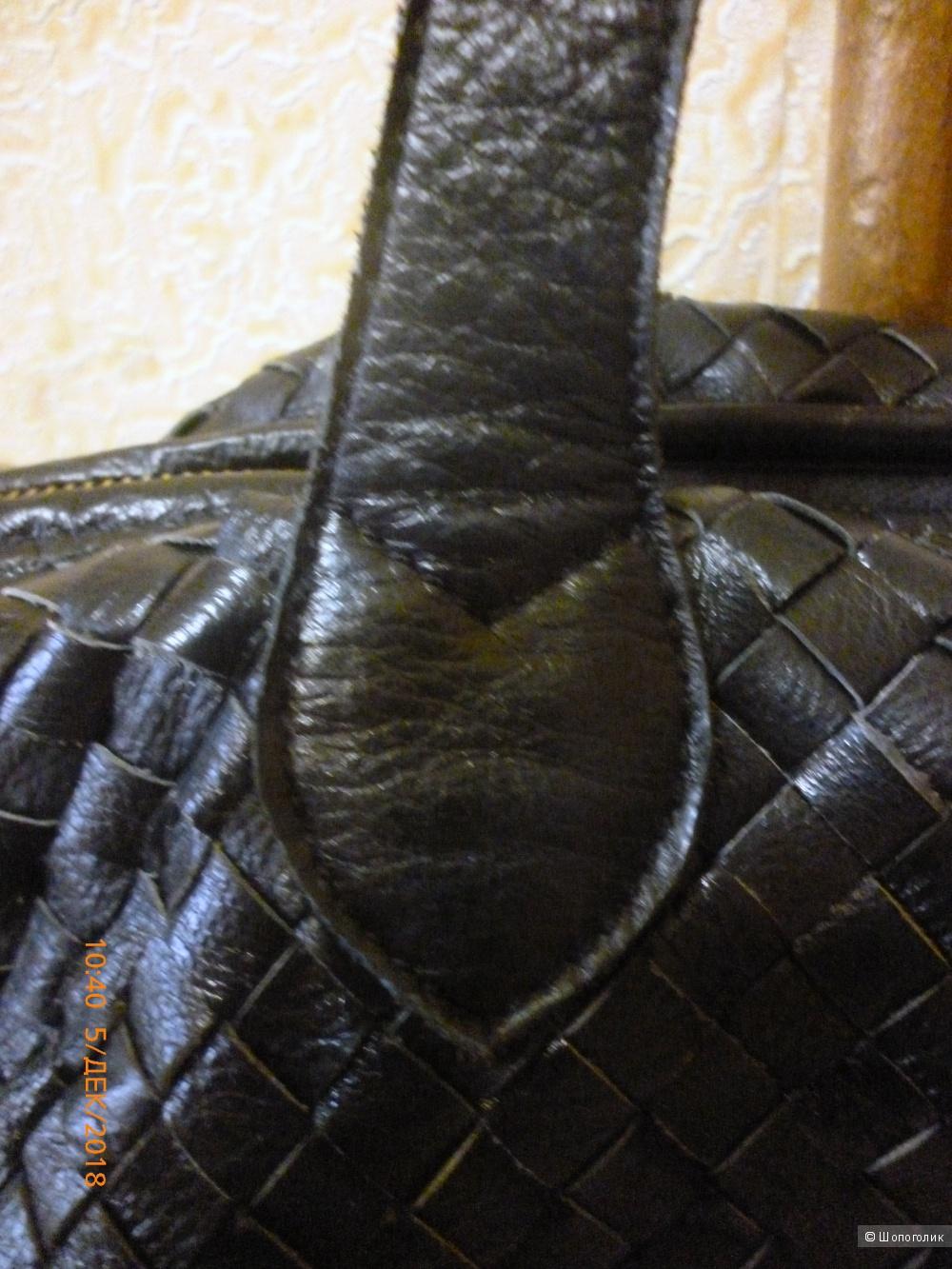 Сумка из натуральной кожи no name, размеры 43 х 28 х 17