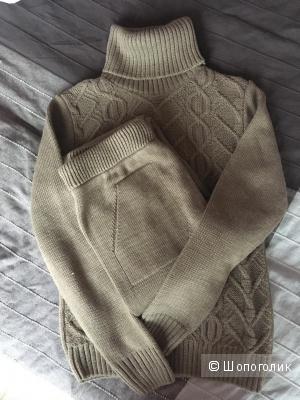 Шерстяной костюм, размер 42-44, хаки
