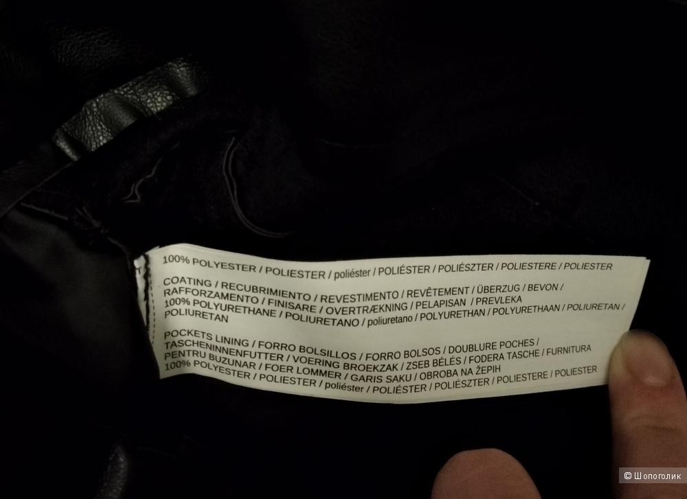 Кожаные брюки, Mango, р.46-48
