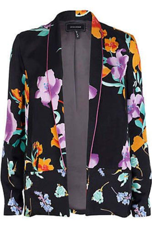 Блейзер с цветочным принтом River Island (EUR 38, UK 12, RUS 44-46)