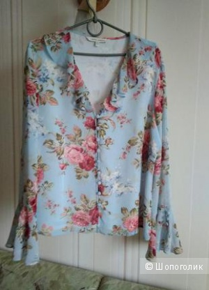 Шелковая блуза laura ashley  размер euro 44 /50-52 рос.