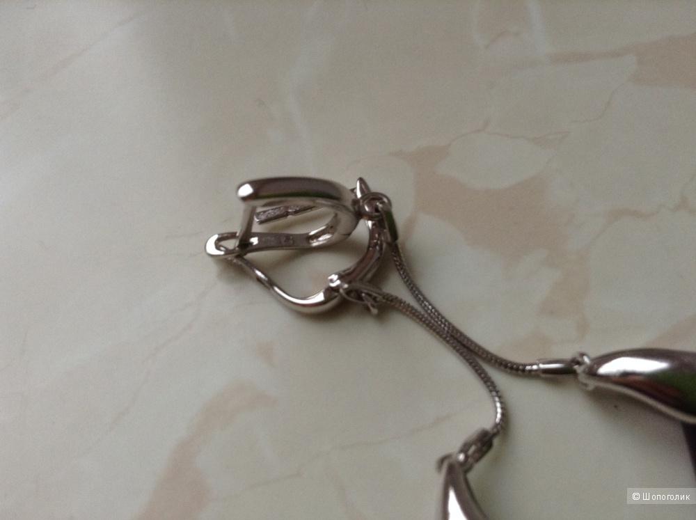 Серебряные серьги Sunlight с алпанитом