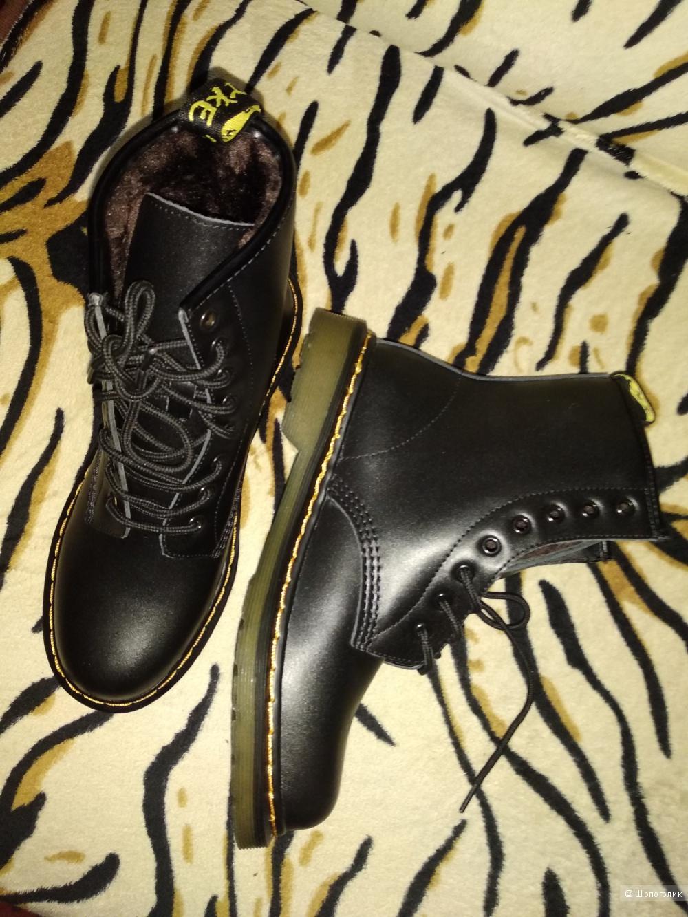 Ботинки зимние, размер 39-40