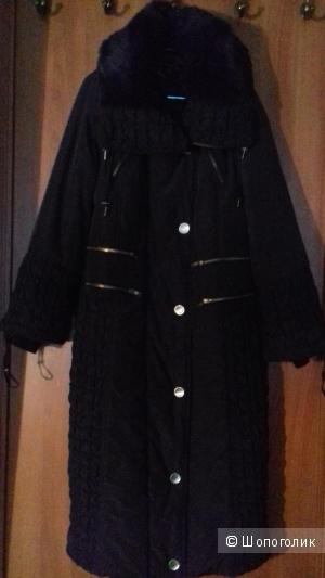 Стеганное пальто- пуховик Giani Forte.  Франция.  р. T2  ( русскиий р. 52 )