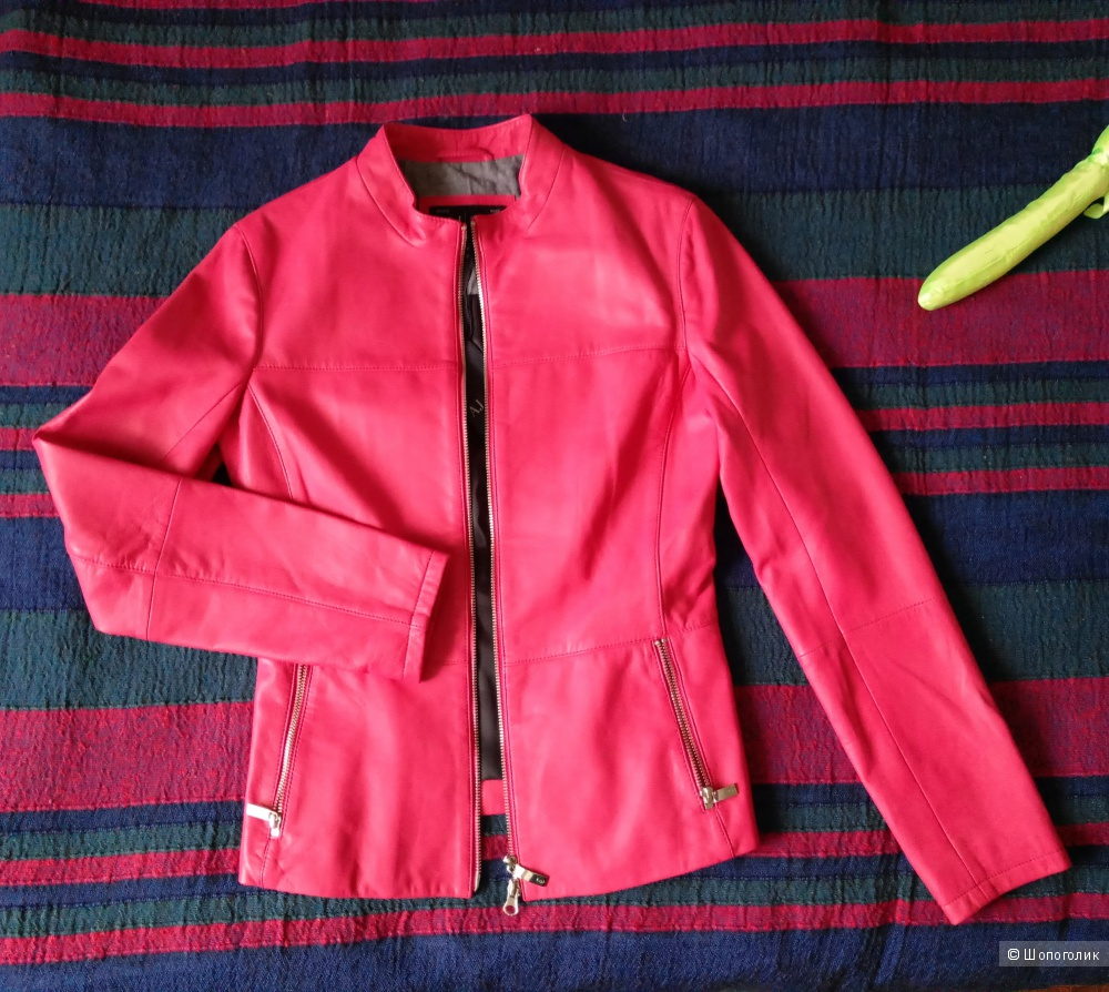 Куртка кожаная Armani Jeans размер 44