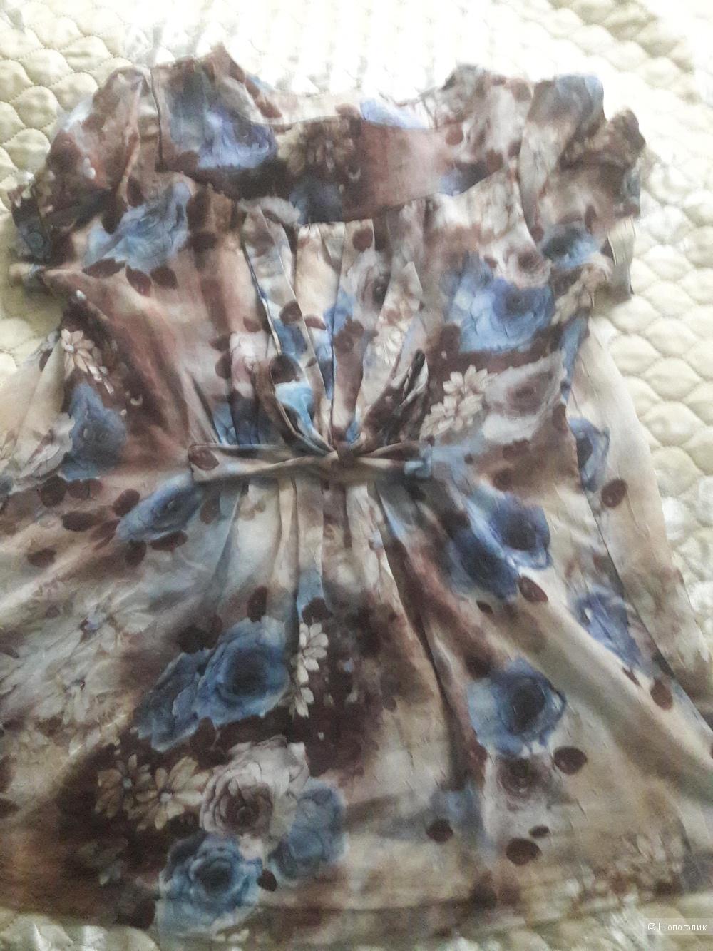 Шелковая блузка Ciao Ciao 48 размера
