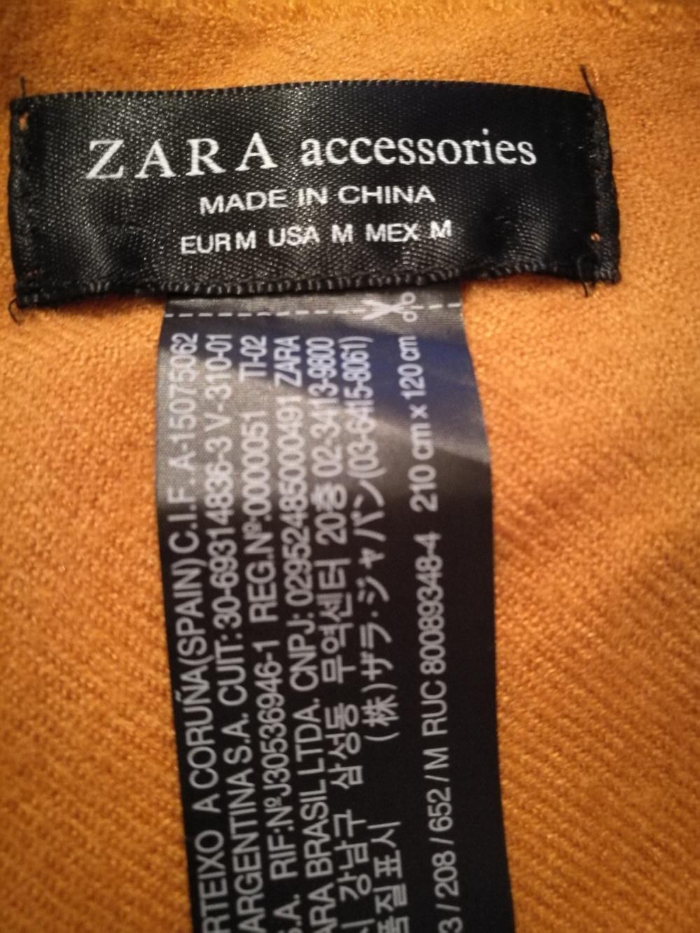 Шарф ZARA, размер 120Х210