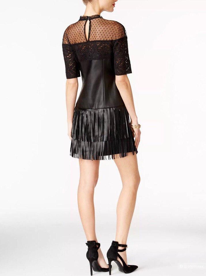 Кожаное платье Guess S