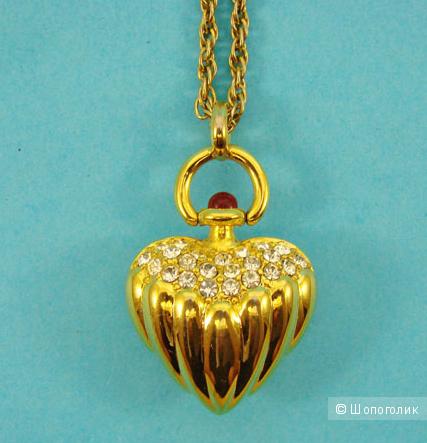 Кулон Сверкающее сердце от Joan Rivers, one size