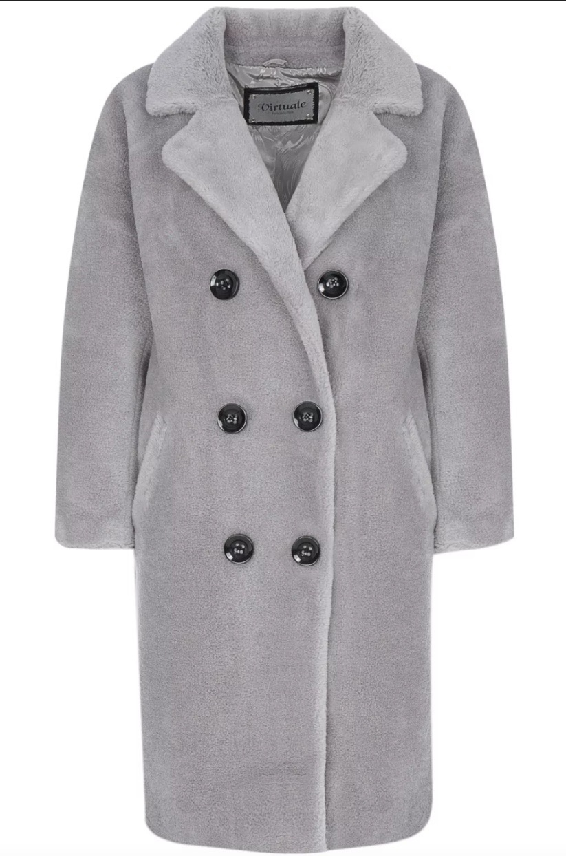 Шуба пальто из овчины Снежная королева размер 44