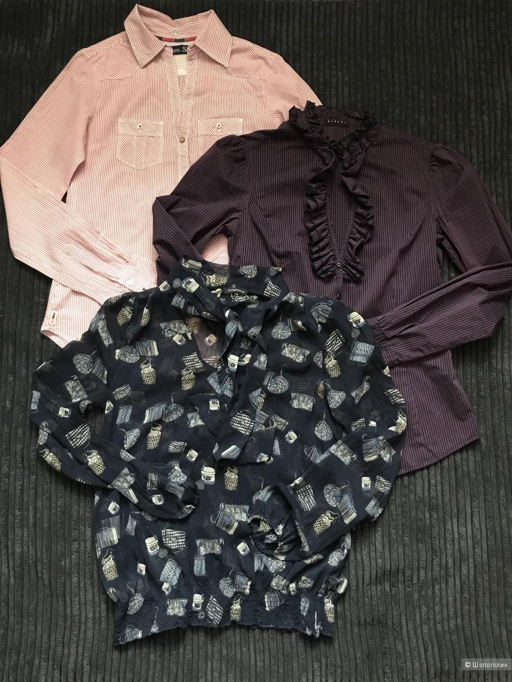 Сет блузка Sisley (S) + рубашка Bershka (S) + блузка Motivi (uk 6-eur34)