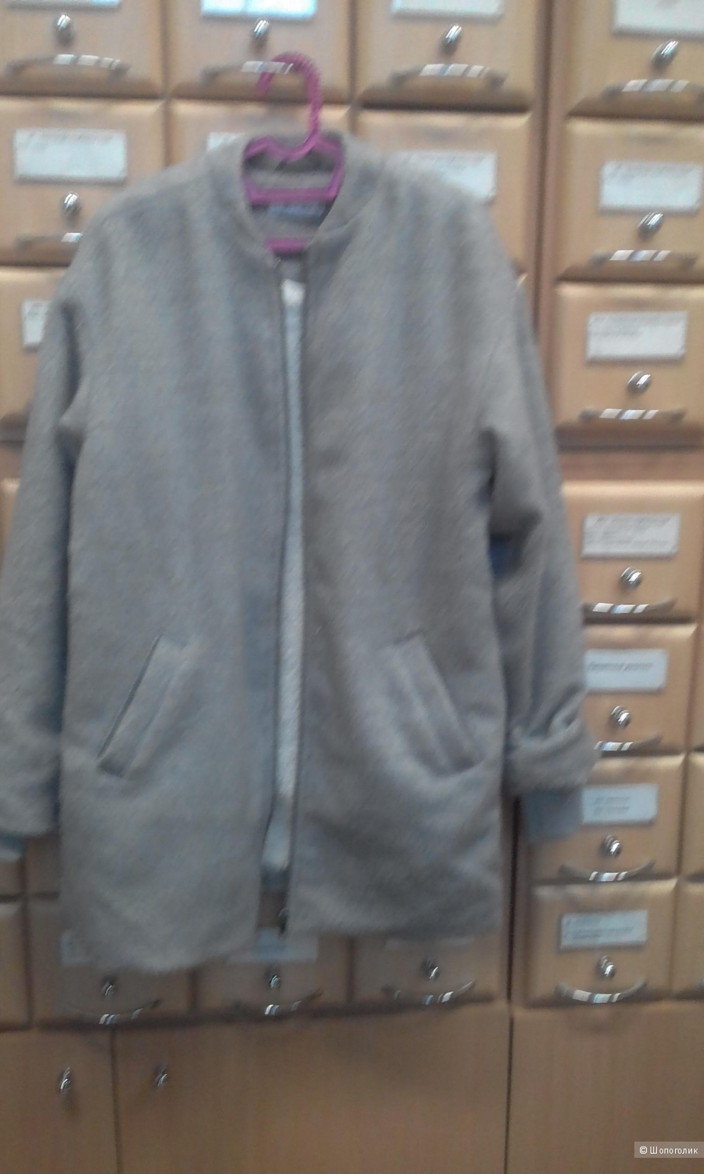 Пальто серый меланж  на позднюю осень, теплую  зиму - мягкое, уютное и достаточно теплое.