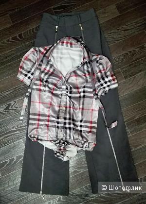 Брюки+блузка no name. 42-44 размер