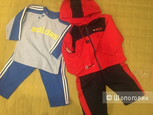 Два спортивных костюма Adidas и Mamadeo 12-18 мес.