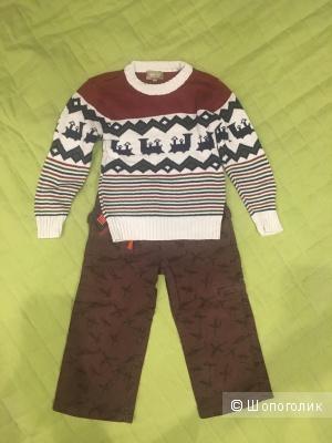 Сет брюки playtoday и свитер gee jay 2 года