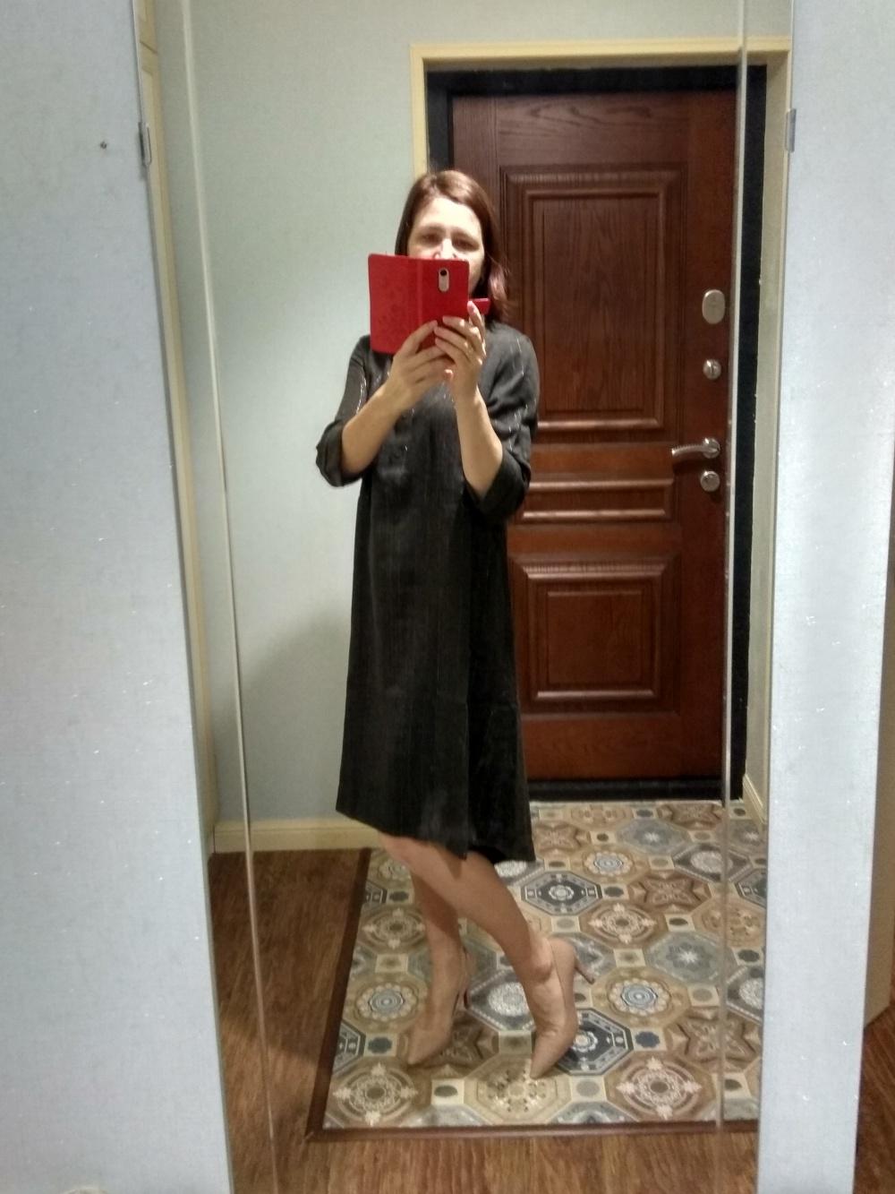 Платье Emka Fashion, с нитью люрекса, р-р 42-44