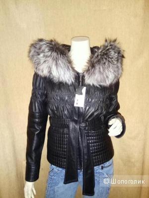 Куртка кожаная зимняя 42/44 размер