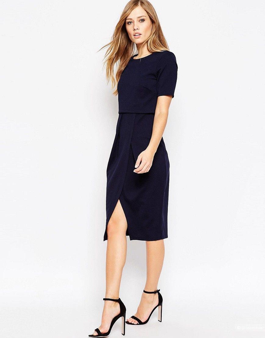 Платье ASOS темно-синее 6 UK размер