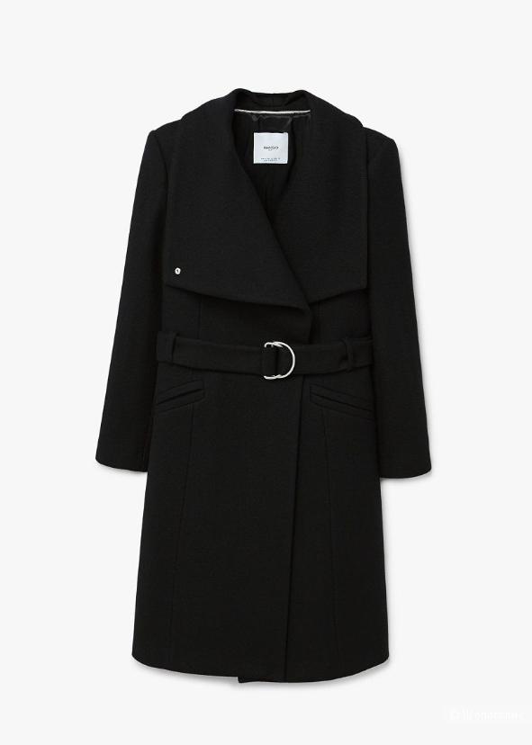 Шерстяное пальто Mango с лацканами, XL