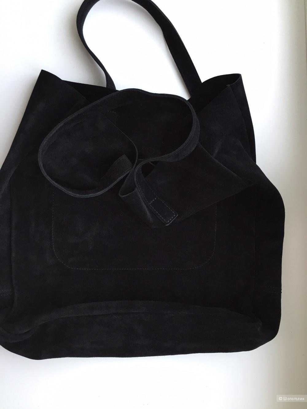 Замшевая сумка шопер Lokis