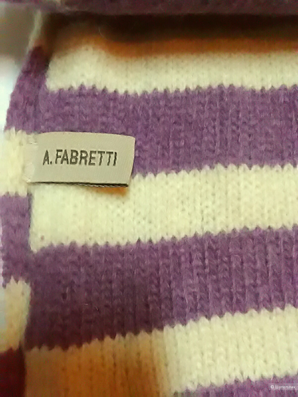 Шарф A.fabretti,размер  23х210