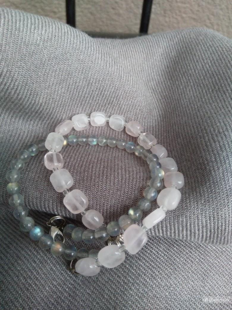 Сет браслетов из натуральных камней 20см.