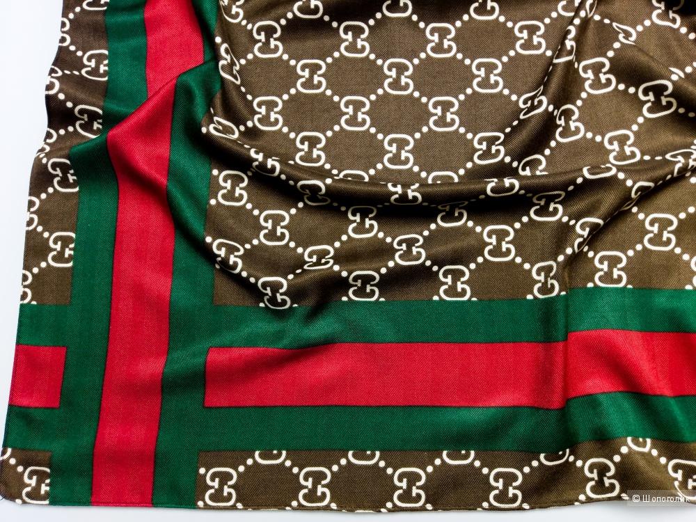 Платок Gucci, brown, 90*90 см.