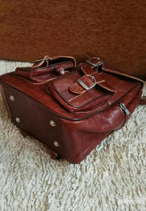 Рюкзак кожаный No Name размер S