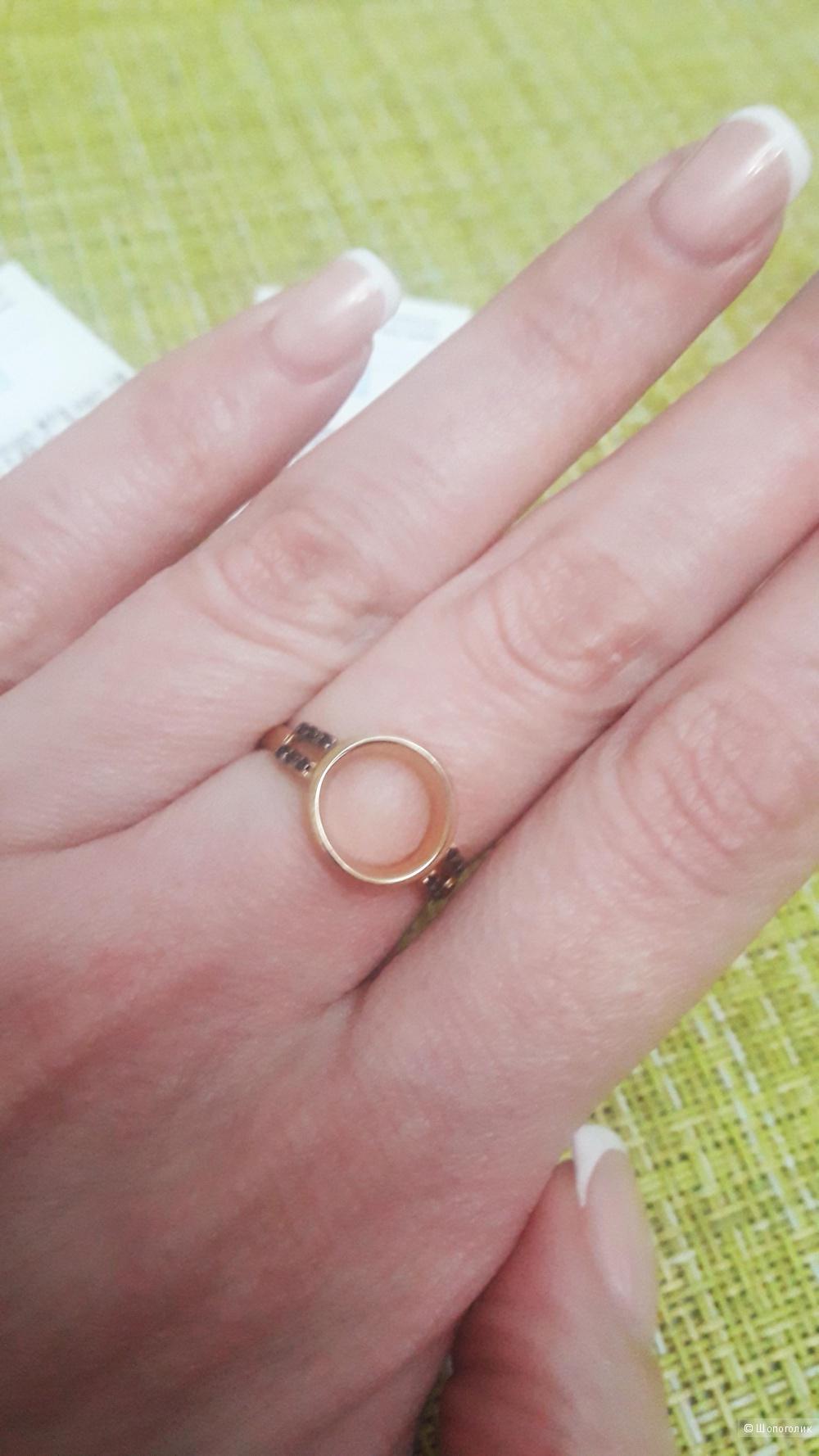 Набор серьги и кольцо 17 размер. Серебро.