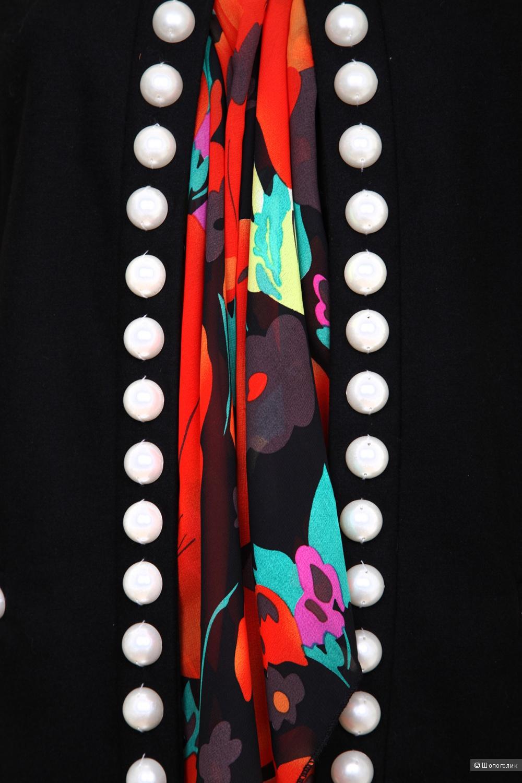Шерстяной жакет с шарфом Style Track, размер S