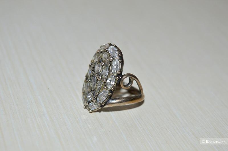 Кольцо серебряное , размер 17-17,5