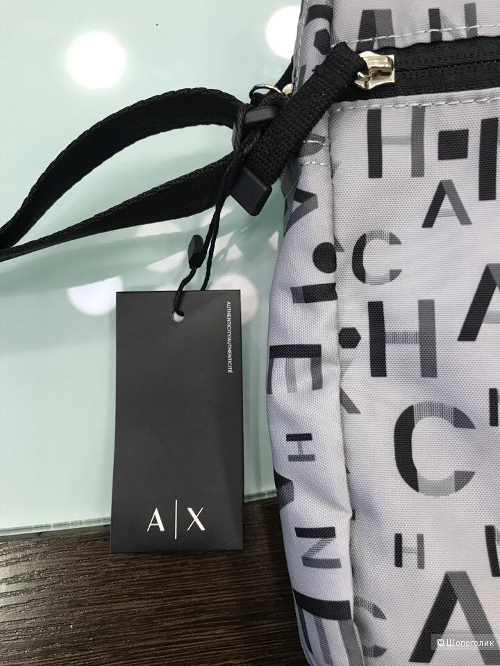 Сумка мужская Armani Exchange, размер 21 см х 25,5 см х 5,5 см