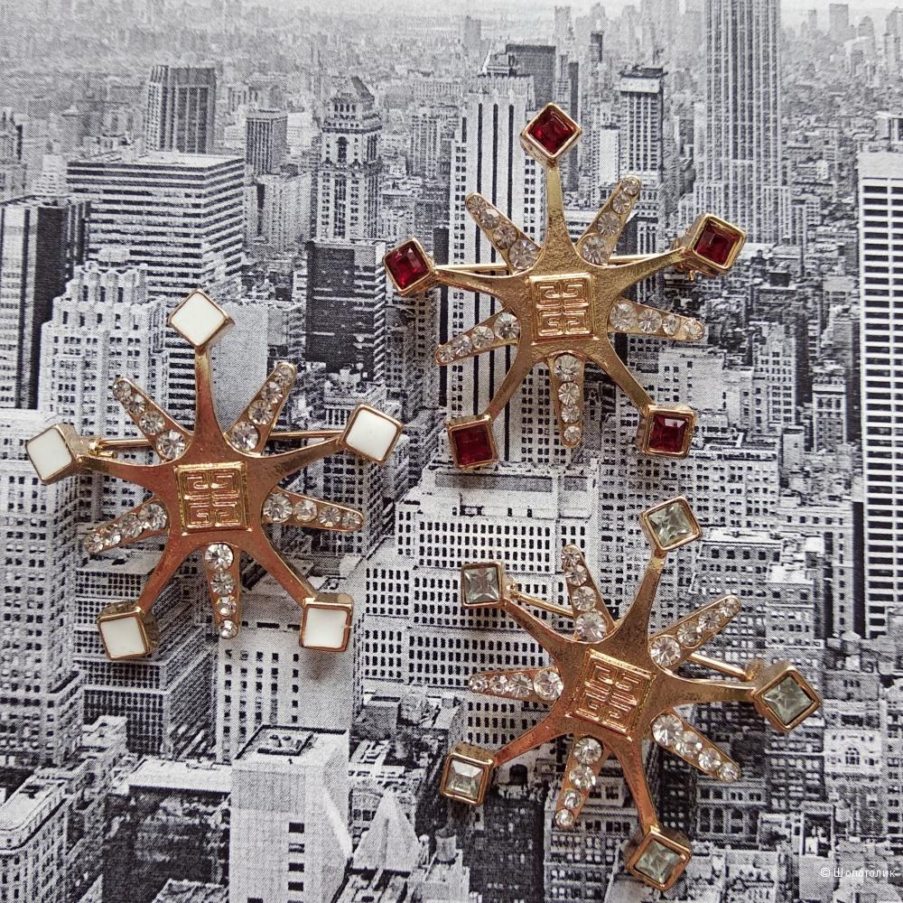 Комплект из 3-х брошей Givenchy