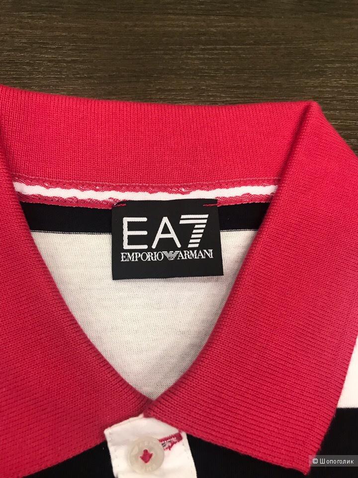 Мужская футболка поло EA7, размер S, M, L, XL